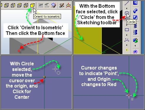 Step 14 Create Circle for Hole After Saving, Click Orient to Isometric in the View toolbar.