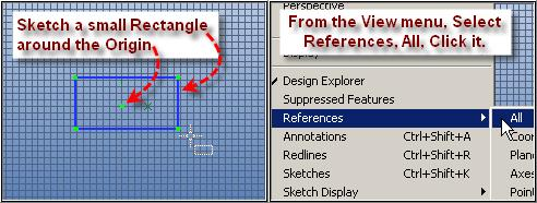 Now Click XY-Plane in the Design Explorer, and start Sketching with a 2 Corner Rectangle.