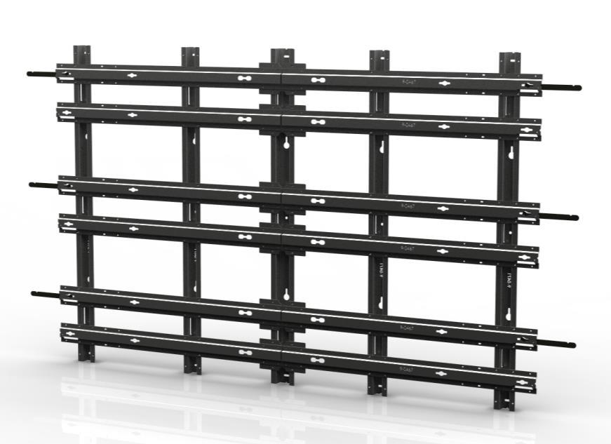 SmartView Mounting Frame 3 Wide x 3 Deep Video Wall Display Assembly Guide WMK-034 Important: Assembling video displays is a serious endeavor that requires experienced professionals.