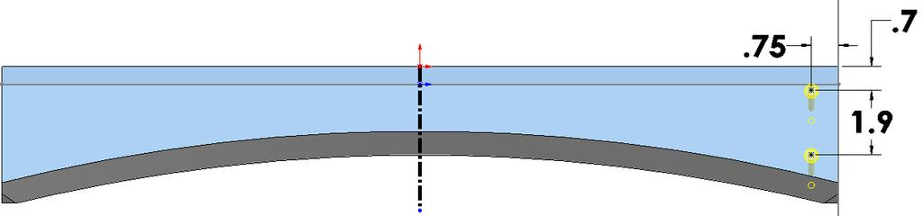 Step 10. Click Centerline (S) on the Sketch Origin Centerline Step 11. Sketch a vertical centerline down from Origin, Fig. 30.