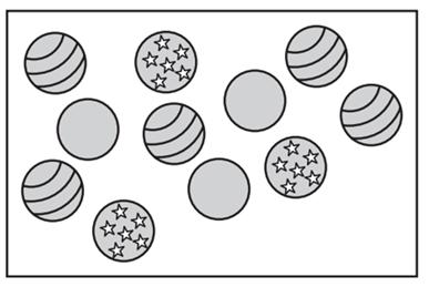 Example 7: Use the box below to answer the following questions. Assume a ball is chosen at random. A. B. C. D. E.