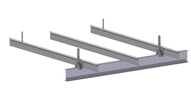 Typically the SureGrip Clamps are positioned side by side on the same WF beam as shown below.
