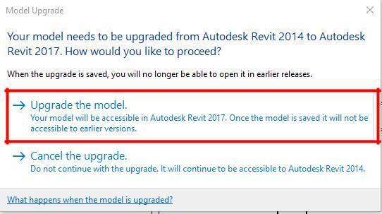 18 Open the file for which you just have downloaded off BimObject. You will then be taken back to Revit and the following dialogue appears.