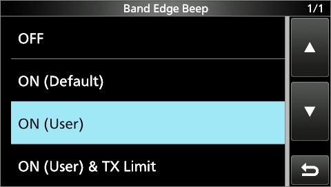 BASIC OPERATION Setting the frequency (Continued) DDEntering a Band Edge When ON (User) or ON (User) & TX Limit is selected on the Band Edge Beep screen, you can enter a total of 0 band edge