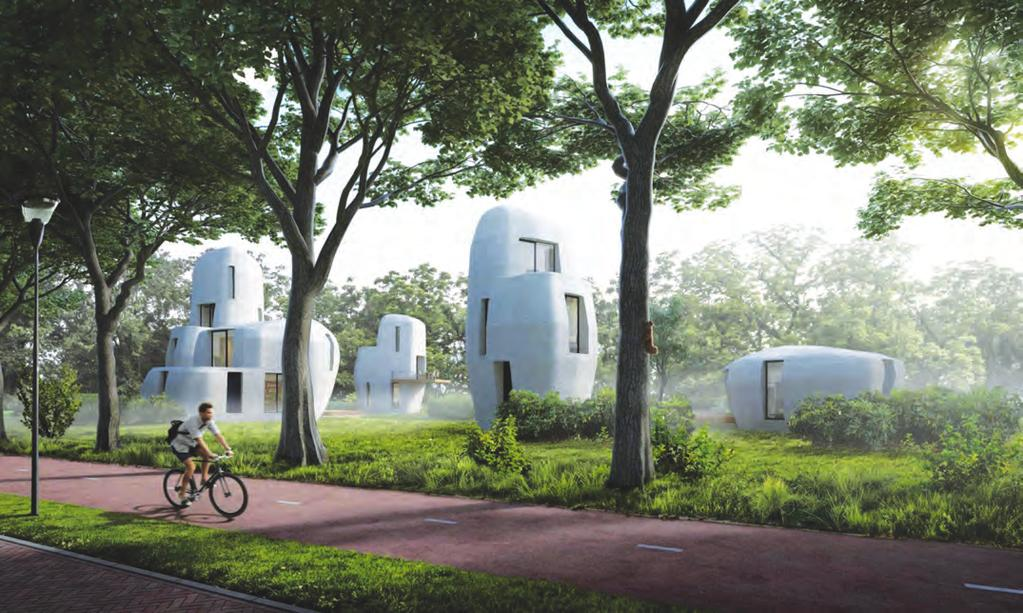 BACK DOOR CONCRETE PLANS 3D printed housing is moving beyond prototypes into rentable properties E indhoven University of Technology has announced plans to 3D print a series of concrete houses that