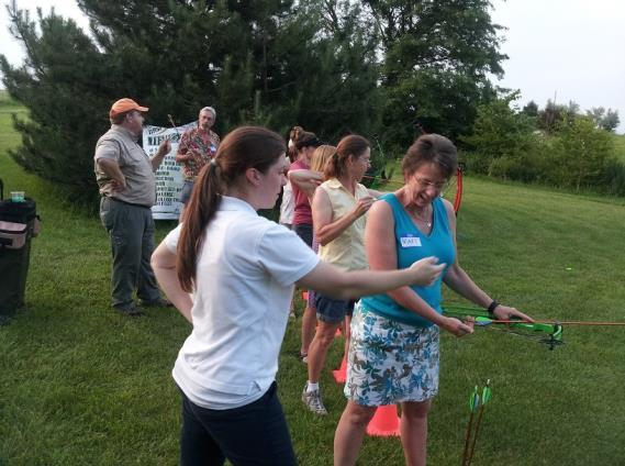 Chapter Members Enjoyed Annual June Potluck & Archery Lesson Around twenty-five members attended our annual June