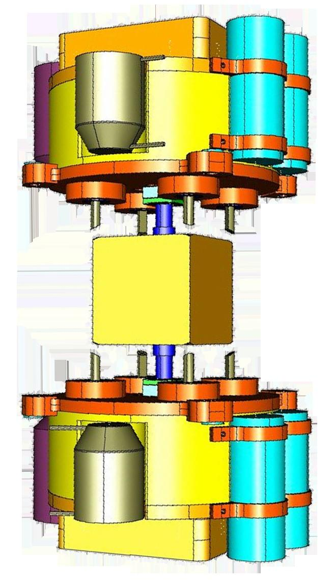 caging mechanism needs to hold test mass at launch, Force = 3000N release on