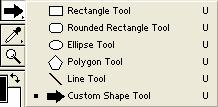Right clicking on tools with little triangles in the bottom