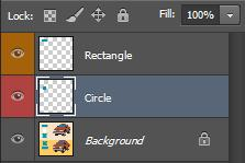 This time there shouldn t be a problem since you ve selected the layer that the circle is on. Look in the Palette and there will now be three layers.