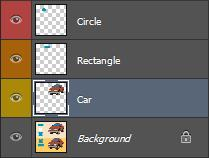 4) Rename the new layer as Car. You can change the layer colour if you want.