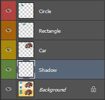 [Ctrl] [N]. You can also click on the new layer icon at the bottom of the Palette.