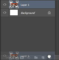 7) With the new image selected, delete the new layer by dragging it to the delete layer icon at the bottom of the layers palette.