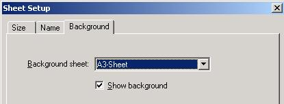 To set to A3 both the sheet size and the background must be set to A3. This can be done using sheet setup. Select File Sheet setup.