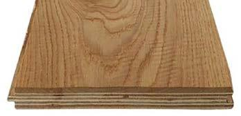 Engineered - A triple layered product, consisting of a top surface of solid hardwood