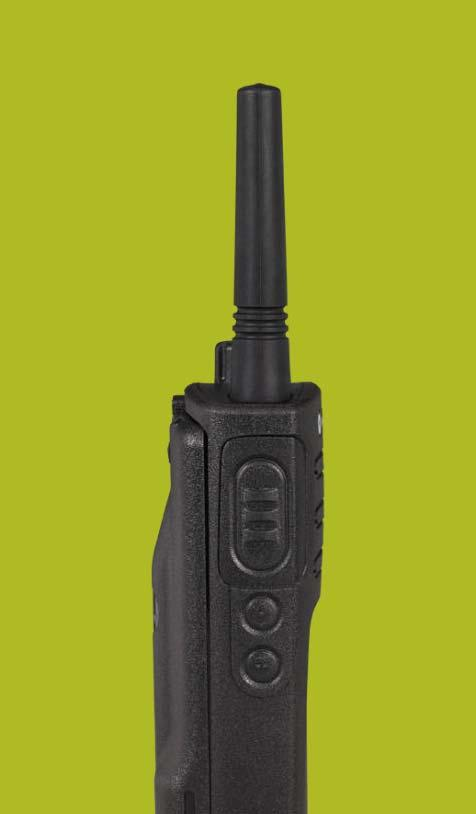 XT420 NON-DISPLAY RADIO FEATURES Antenna Channel Selector On/Off Volume Knob LED Indicator Microphone Rugged