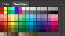 Color, Swatches, Style The Color palette (Figure 4) displays the current foreground and background colors and RGB values for these colors.
