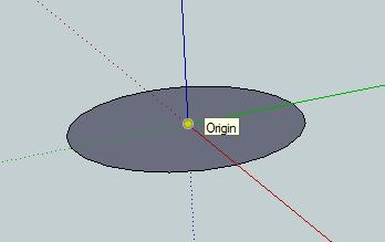 To create the handle, you start off by making a circle at the origin point again.