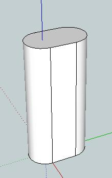 46. Extrude the shape upwards by 130 mm using the Push/Pull tool.