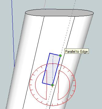 21 50. Use the Rectangle tool to draw a rectangle on the handle.