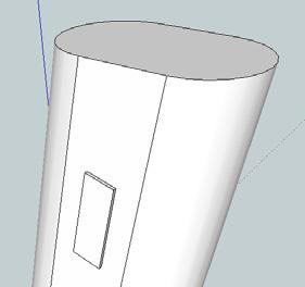 Extrude the rectangle by 1 mm using the Push/Pull tool. 56.
