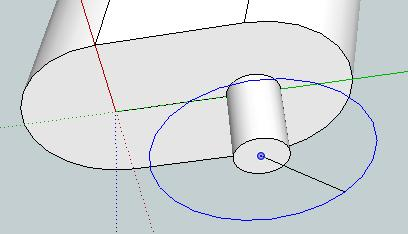 5 mm radius inside the end of the circular face.