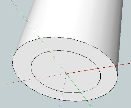 Similar to before, draw a circle on the base, making sure that it is centred