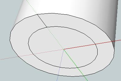 Draw along the green axis by looking to see if the line is green as you draw it.