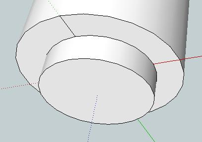 Now use the Eraser tool to delete the part of the line that is inside the inner