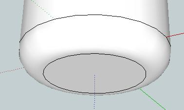 Enter a radius of 5 mm and the arc will fill in with the same colour as the rest