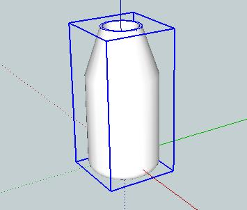 Now the whole object is a single component,and while it is selected it will have a blue box