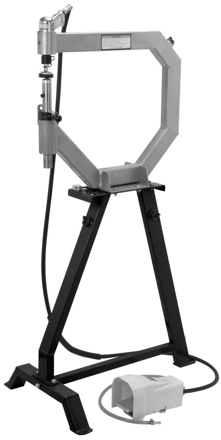 Planishing hammer stand For use with SKU 94847 Planishing hammer Model 96300 Assembly And Operation Instructions Please Note: Planishing Hammer not included with Stand.