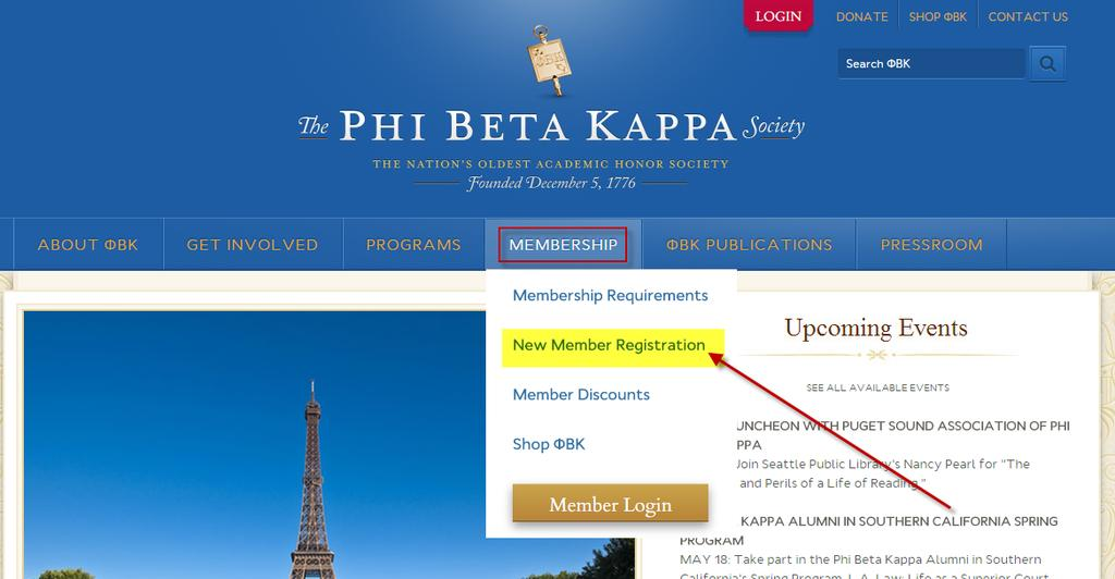 The Phi Beta Kappa Society Member Registration Procedures for Students March 10, 2015 Congratulations on your invitation to join Phi Beta Kappa, the nation s oldest and most prestigious academic