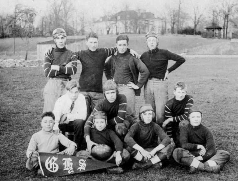The 1914 Gridiron Meet the 1914 Grandview football team, as indicated on the ball. A lot of the early team members were ringers and did not attend GHHS.