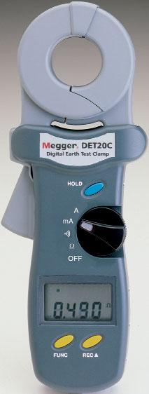 Megger Clamp-on Testers 161 Easy, fast clamp-on operation No rods or cables necessary Measures ground resistance from 0.025Ω to 1500Ω Measures ground leakage or phase current from 0.