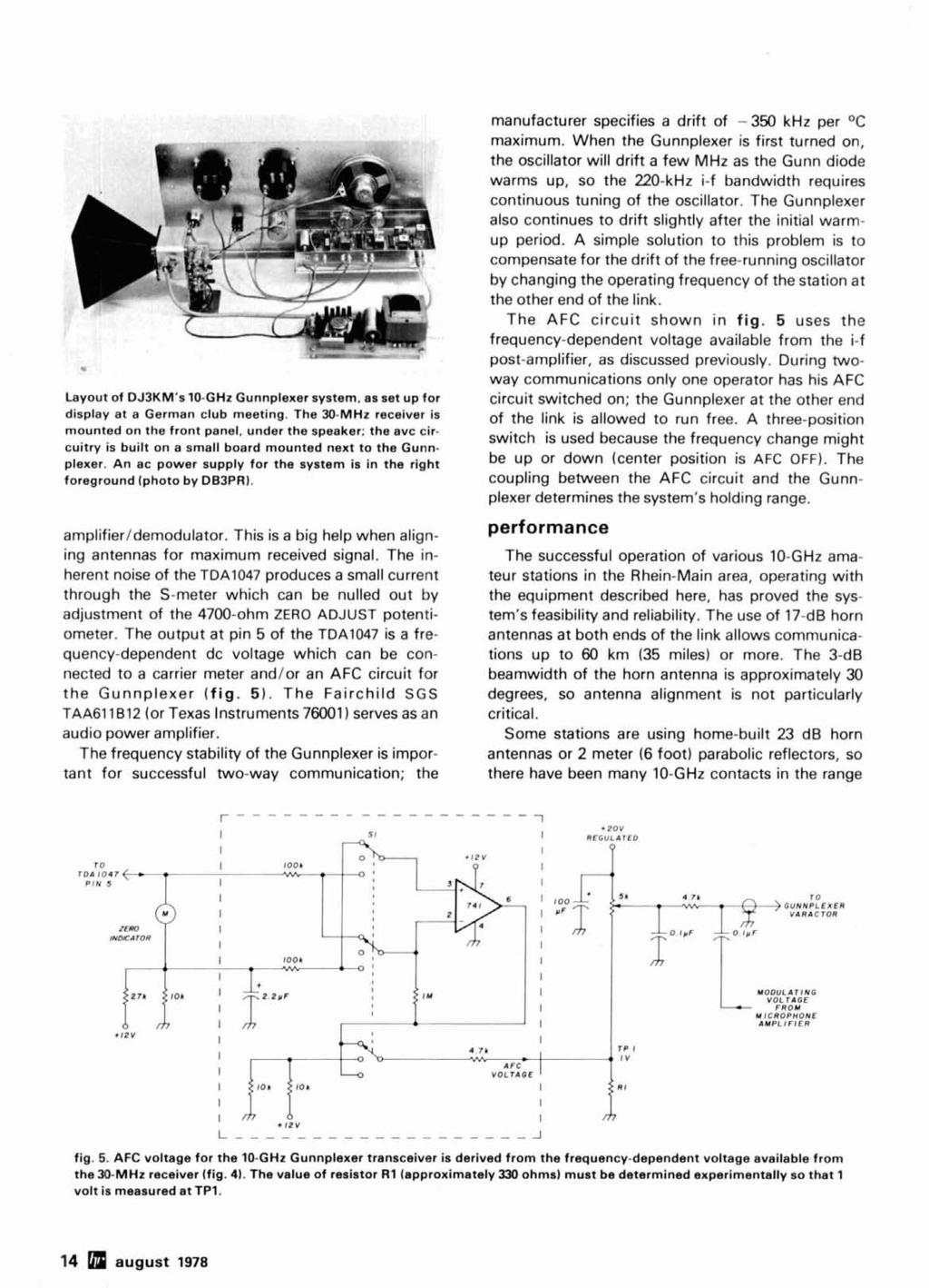 10 G Hz Transceiver For Amateur Microwave Communications Pdf Very Simple Oscillator 7700 Electronics And Computer System Layout Of Dj3kms Ghz Gunnplexer As Set Up Display At A