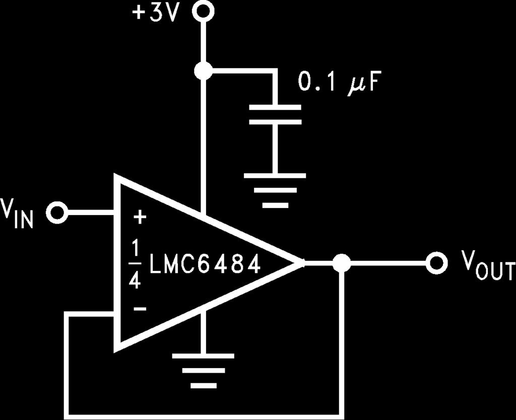 Lmc6484 Cmos Quad Rail To Input And Output Operational Op Amp Problems Controlling An Lm317 With Opamp Electrical Amplifier General Description The It Is Ideal For Systems Such As Data Acquisition That Require A Large