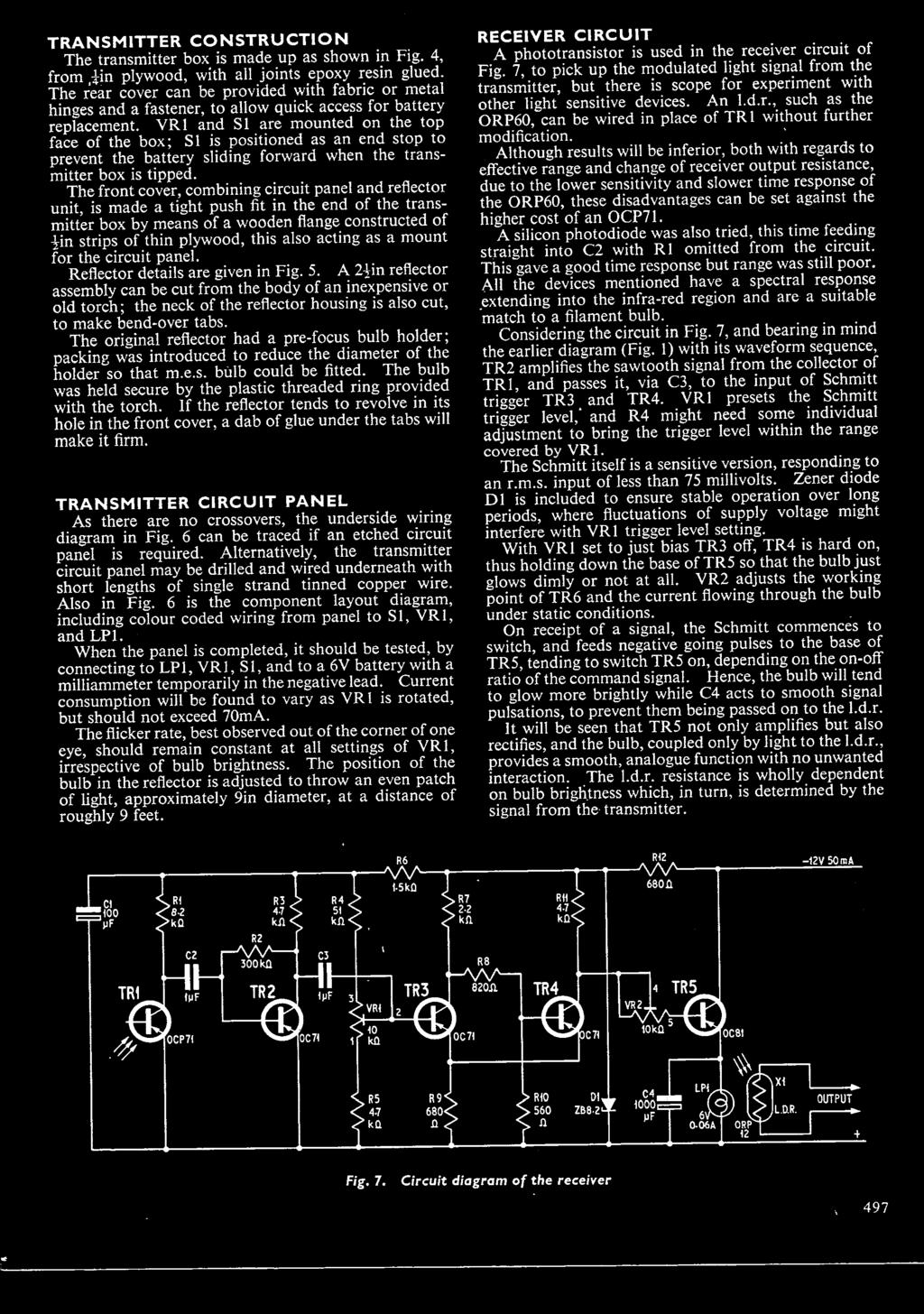 Practical Electroimip Three Shillings July 19b0 Vdurs To Commnnd Rr3 Ge Relay Wiring Diagram Acting As A Mount For The Circuit Panel Reflector Details Are Given In Fig