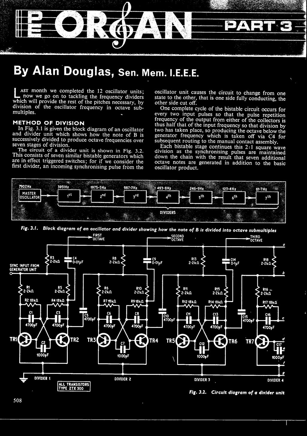 Practical Electroimip Three Shillings July 19b0 Vdurs To Commnnd 4w Bridge Amplifier Using Lm388 Circuit Diagram Hie Of A Divider Unit Is Shown In Fig 32