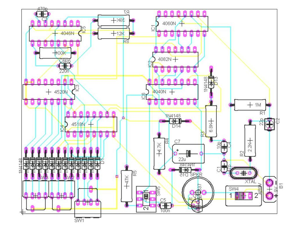 Engn3227 Analogue Electronics Project Report Metronome And Pitch Figure 1 Block Diagram For The Theremin Circuit Appendix D Eagle Pcb Layout Design 14 Schematic Of Generator