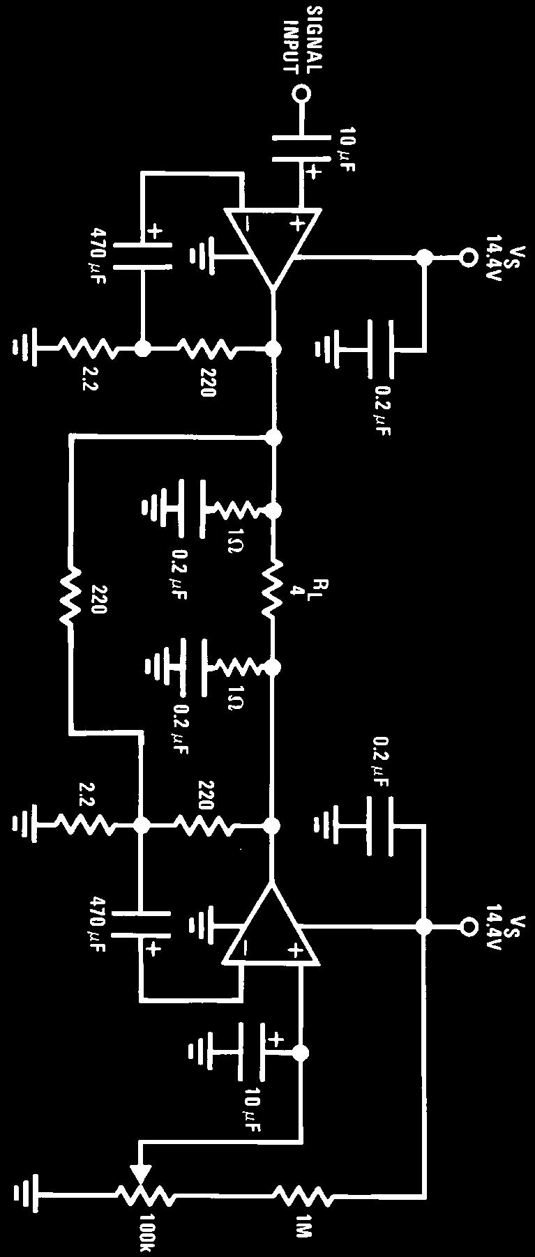 Lm383 Lm383a 7w Audio Power Amplifier Pdf Linear Regulated Dual Polarity Supply By Lm317 And Lm337 V S E 20v R L 4x
