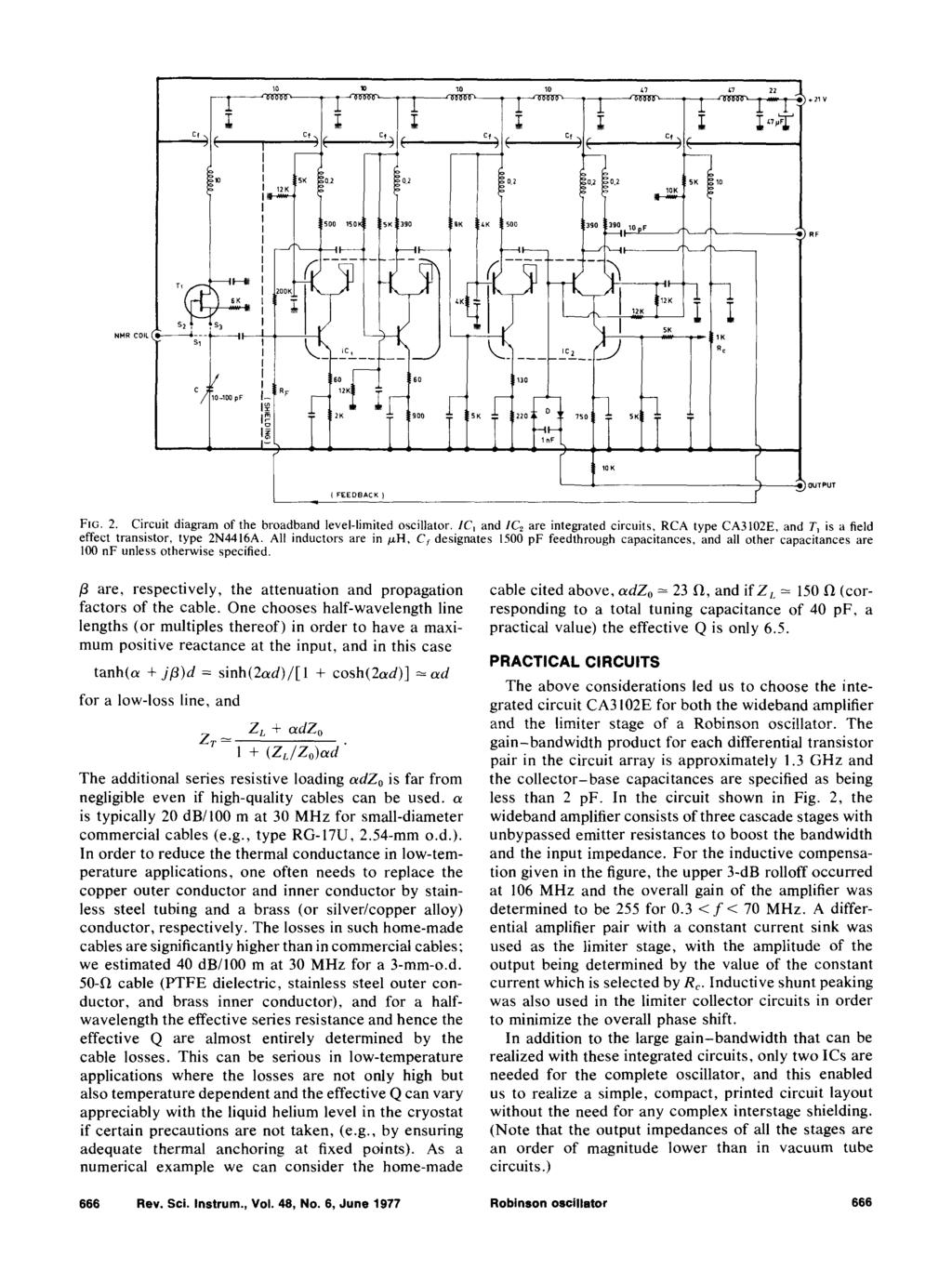 Integrated Circuit Robinson Oscillator For Nmr Detection Pdf Basic Oscillatory Circuits Electronic And Diagram Cf 10 1d L 1 E