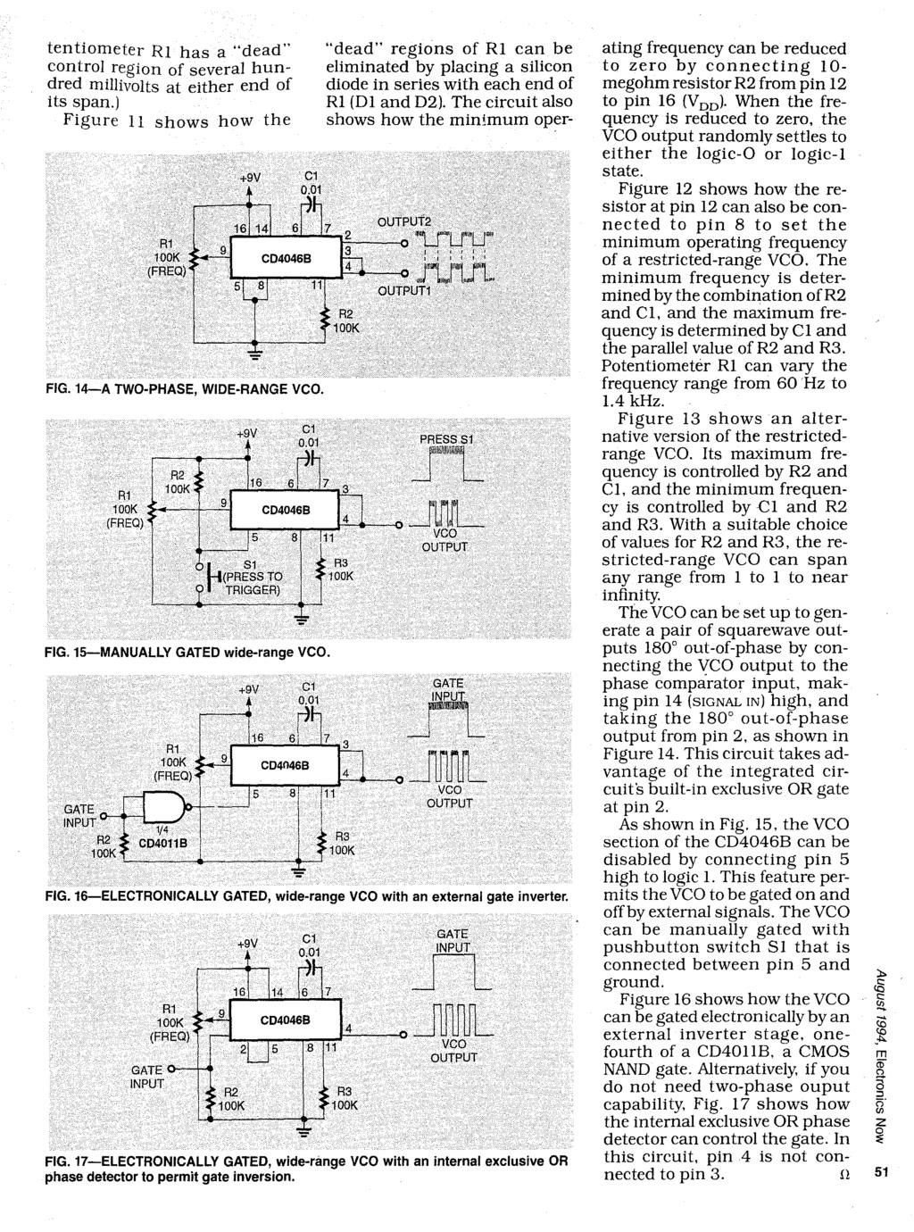 Learn About Phase Locked Loops Pll And Design Communications Vco Circuit Diagram Tentiometer R1 Has A Dead Regions Of Can Be Control
