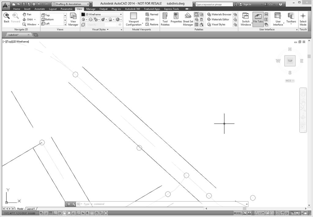 78 Tutorial 2 BASIC CONSTRUCTION TECHNIQUES Figure 2.32 Zoom Previous To return an area to its previous size, you will click Zoom Previous from the Standard toolbar.
