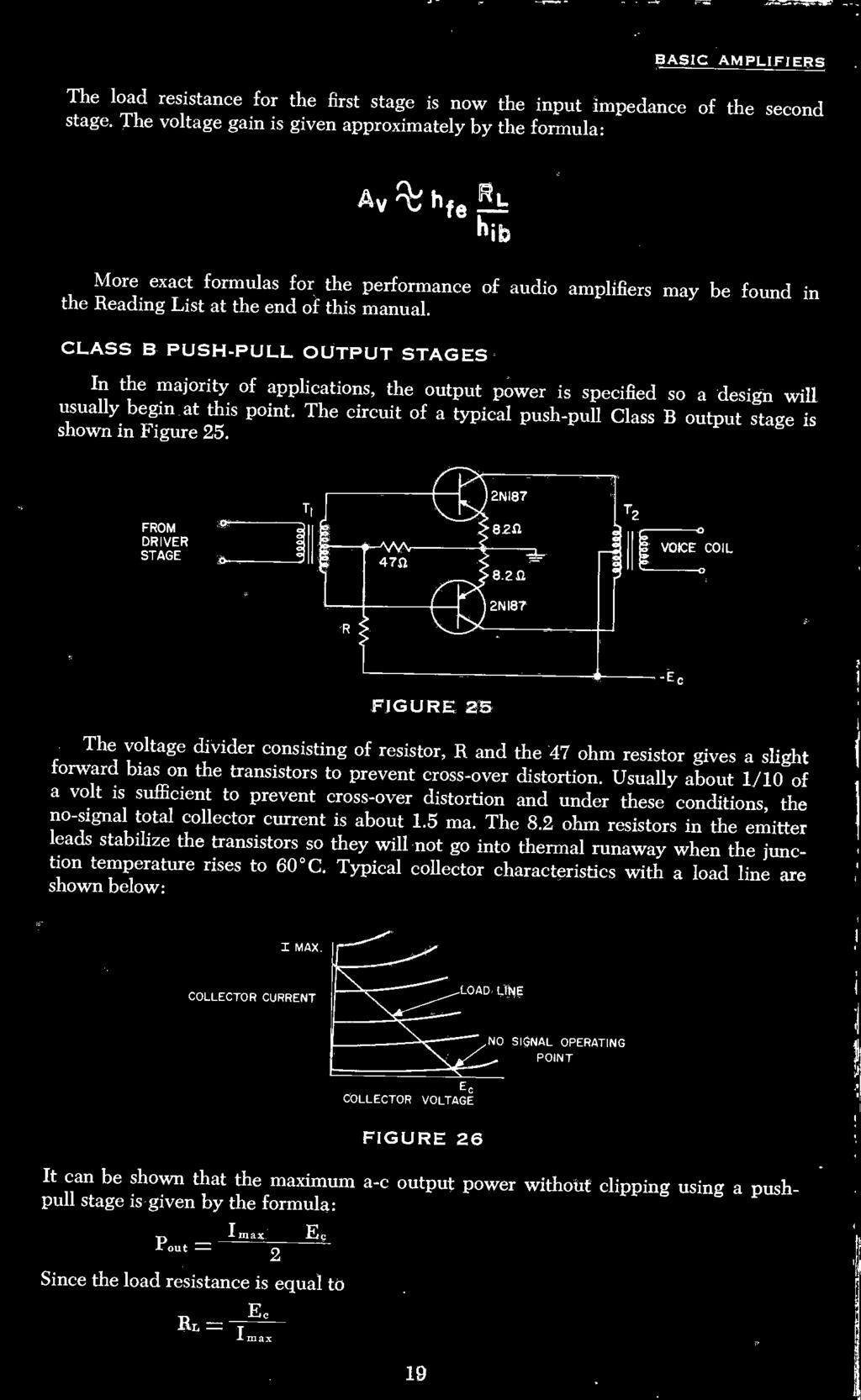 Contents Transistor Construction Techniques 8 Major Parameters 11 Sawtooth Wave Generator Circuit Using Ujt Class B Push Pull Output Stages In The Majority Of Applications Power