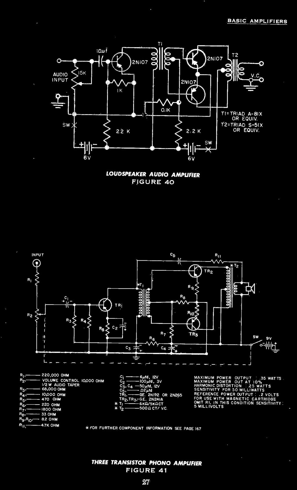 Contents Transistor Construction Techniques 8 Major Parameters 11 Rectifier Circuit For Tube Amp Tubeamplifier Audiocircuit 35 Watts R2 Volume Control 10000 Ohm 02 10004 3v Maximum Power Out At