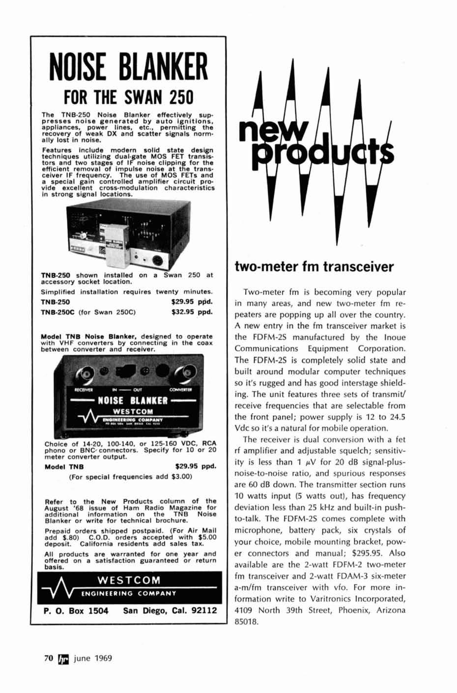 Communications Technology Magazine Pdf Tnb 3 Phase Meter Fuse Box Noise Blanker For The Swan 250 Tnb250 Effectively Suppresses Generated