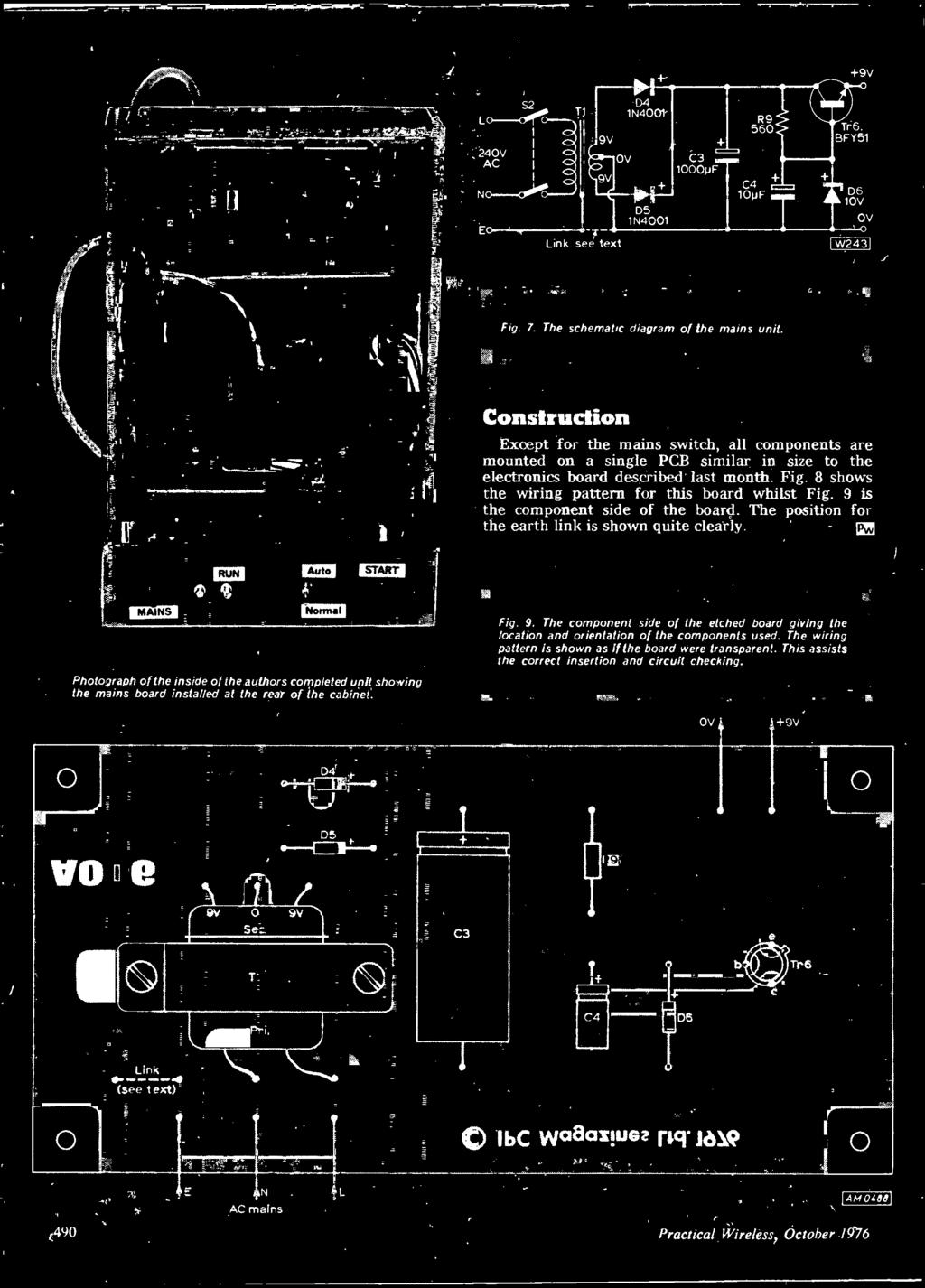 October 40p Project Sheetproject Heall 1rrim Electronics Fl Of Fortune Circuit Diagram Electronic Diagrams Schematics 1115 Photograph The Inside Authors Completed Unit Showing Mains Board Installed At