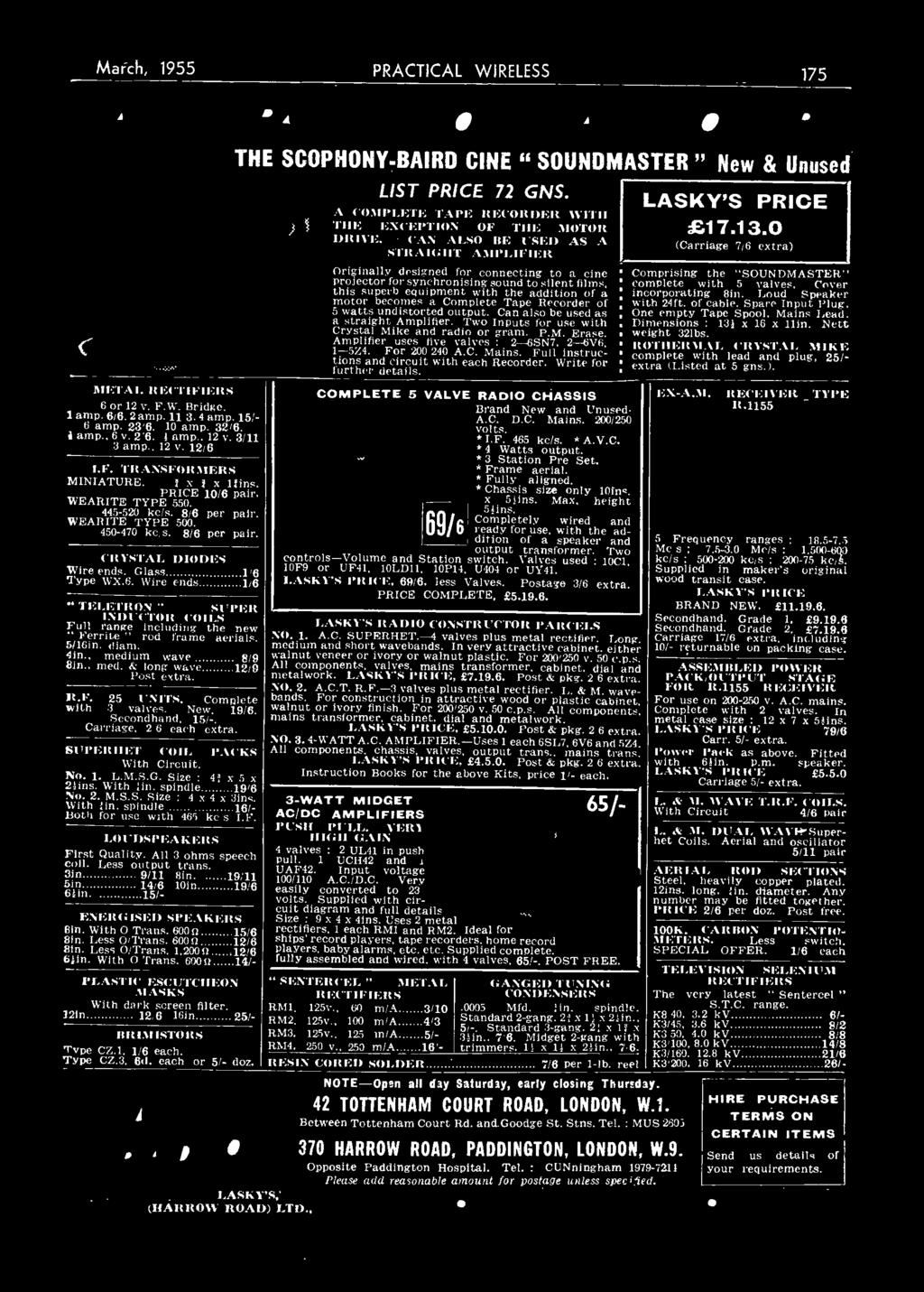 THE BEGINNER'S GUIDE TO RADIO  [yla MARCH 1955 ED1TOR F J CAMM  - PDF