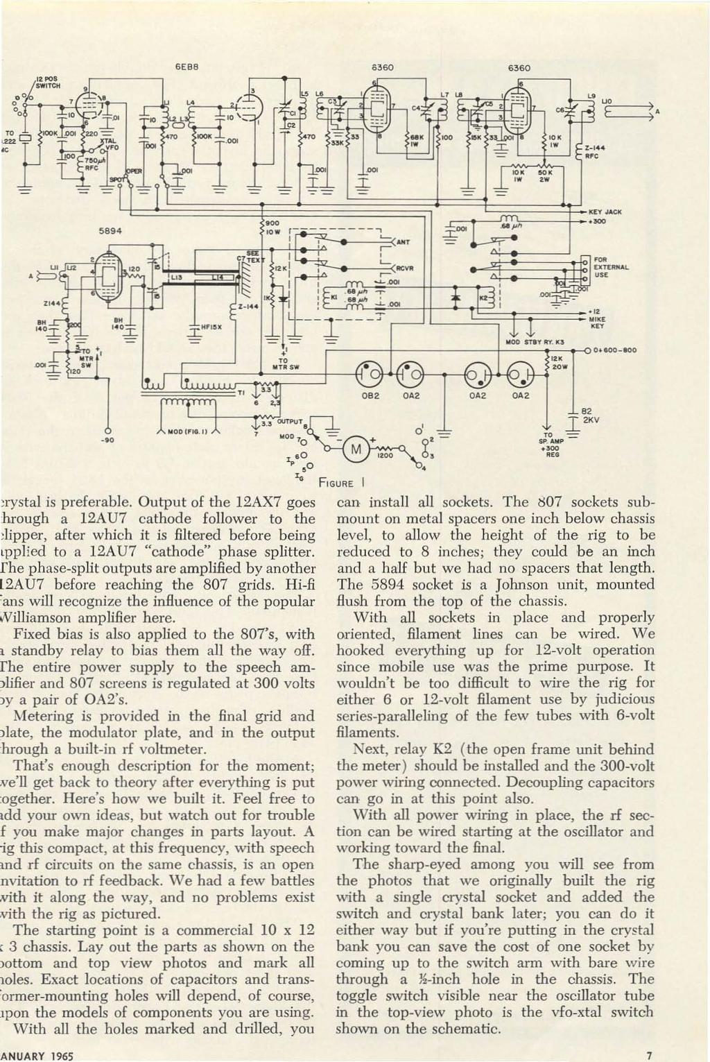 Construction Antennas Technical Beginner Vii F Transistors Spdt Switch Wiring A Fancy Challenge Anuary 1965 7 Fpc1 Swtcol 00 1j