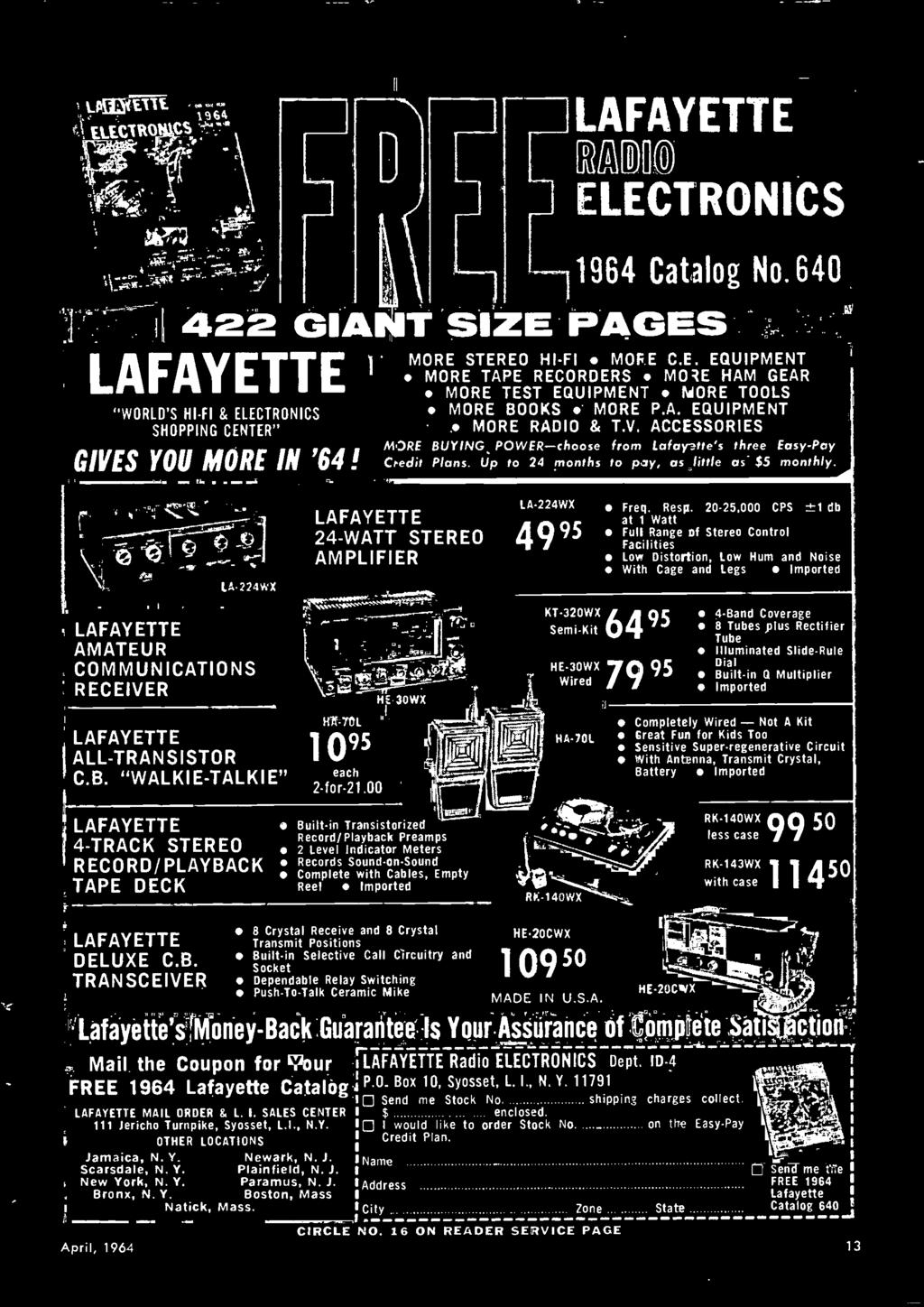 Popular 1964 Electronics 35 Cents Talkie Cb It P 65 From Snap Circuits Micro Kit Courtesy Elenco Inc 00 He 30wx Built In Transistorized Record Playback Preamps 2 Level Indicator Meters Records
